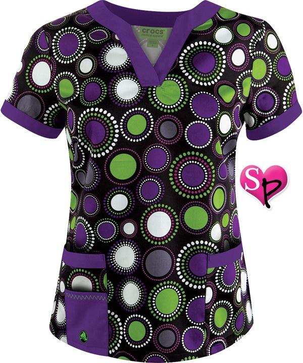 C3002PZK Crocs Scrubs Poparazzi Black Vicki Print Scrub Top $21.99 http://www.uniformadvantage.com/pages/prod/ctp-3002pzk-crocs-top.asp?navbar=2