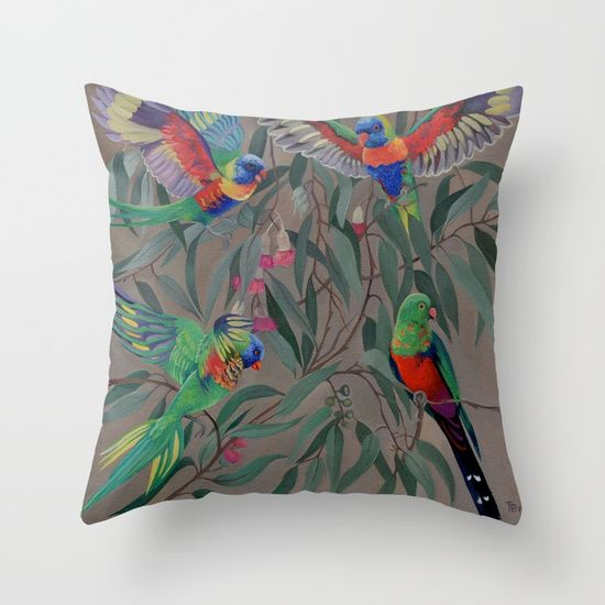 Throw Pillow made from 100% spun polyester poplin fabric, a stylish statement that will liven up any room. Individually cut and sewn by hand, each pillow features a double-sided print and is finished with a concealed zipper for ease of care.  Sold with or without faux down pillow insert.