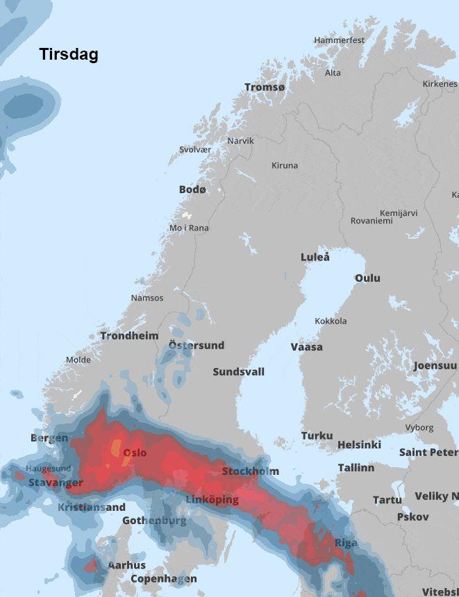 Kan bli ekstremvær på Sør- og Østlandet - TV2.no