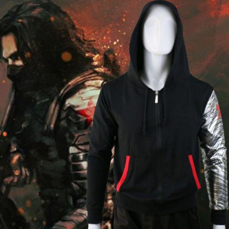 Winter Soldier Zipper Hoodie //Price: $60.00 & FREE Shipping //     #batman #deadpool #marvelc #dc