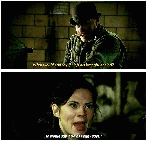 Agent Peggy Carter, ladies and gentlemen.