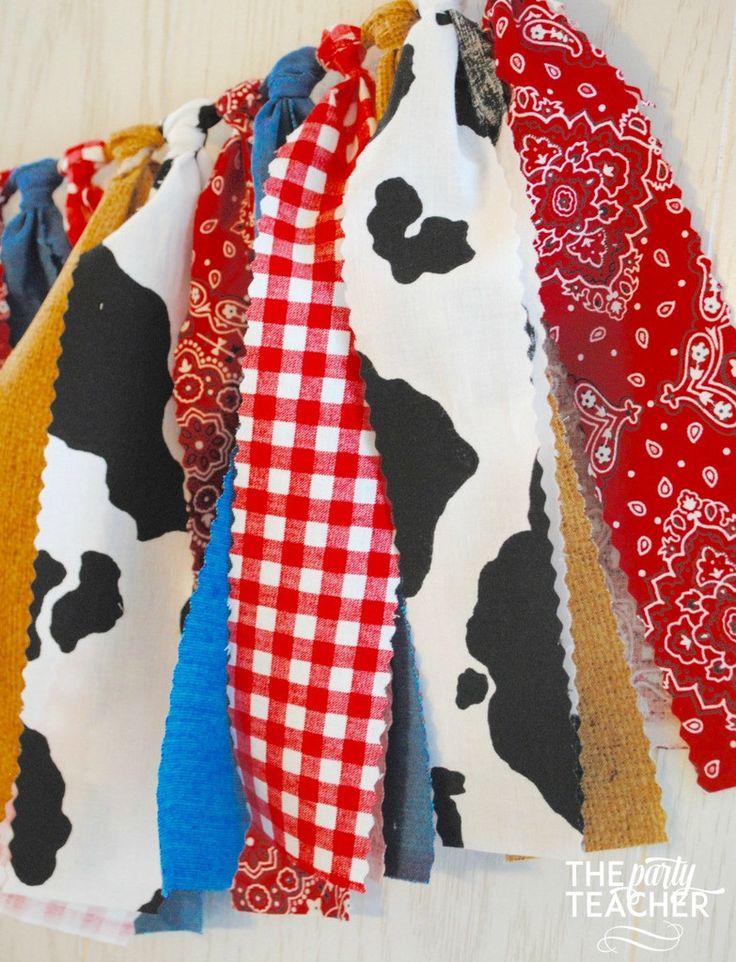 Farm Fabric Tie Garland   $29