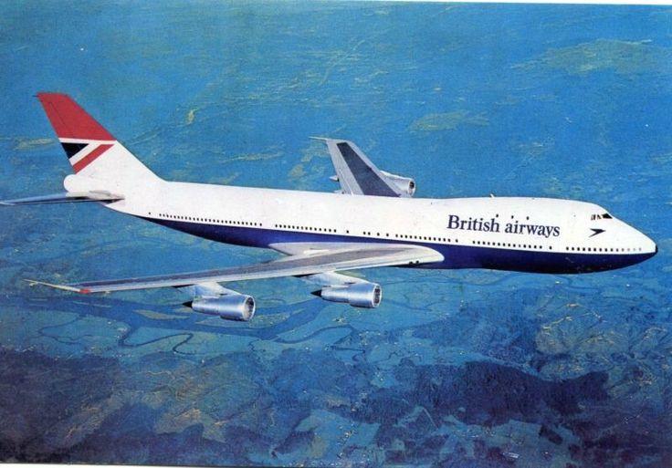 British Airways Boeing 747-136 Postcard