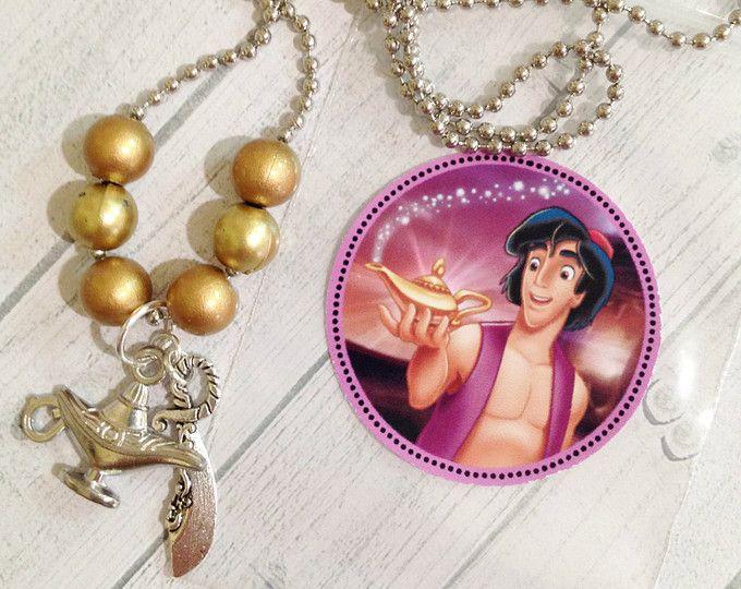 """6 - fiesta de cumpleaños de Aladdin 18"""" favor de bola cadena collar partido favores Aladdin princesa jazmín cumpleaños partido Aladdin Aladdin fiesta de cumpleaños"""