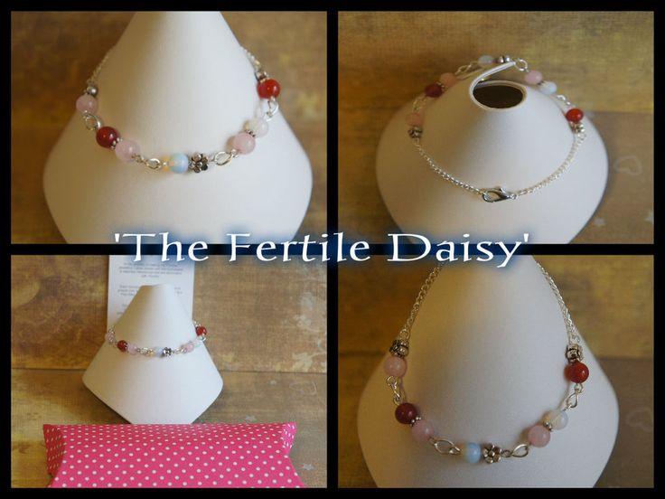 1x Gemstone Fertility Conception Pregnancy Bracelet Anklet IVF TTC IUI ICSI Help