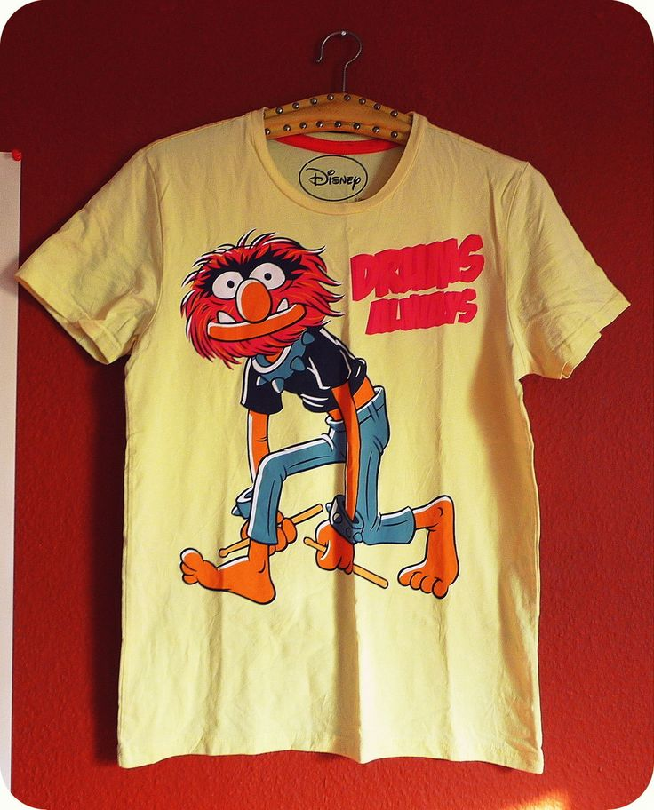 ANIMAL THE MUPPETS DAS TIER TShirt Muppet Show Drum Hero  Heroes