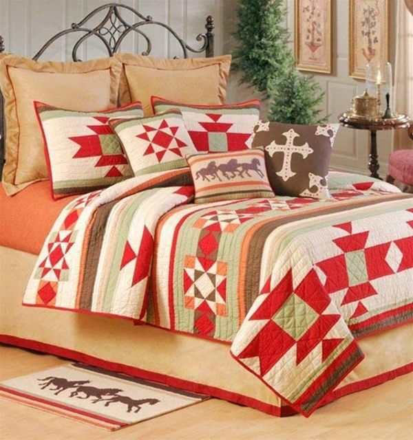 Southwestern Home Decor American Indian | ... , Western, Southwestern and Southwest Quilts | PaulsHomeFashions.com