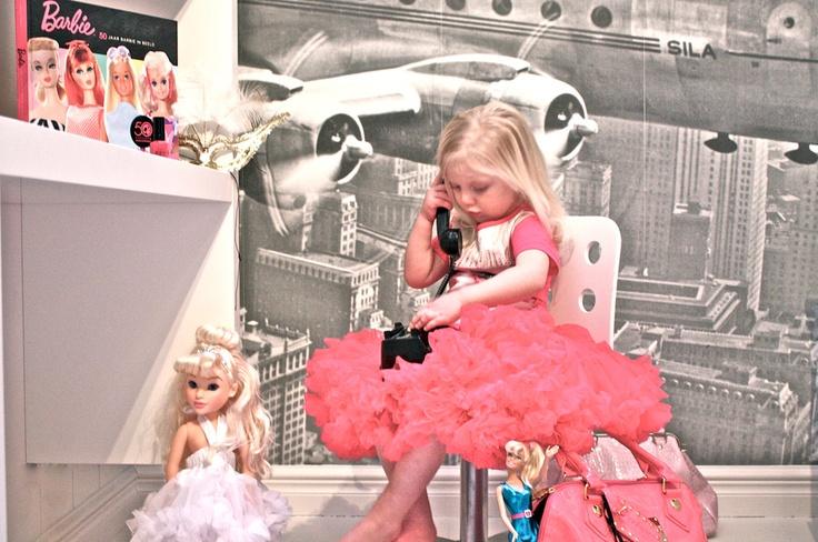 raspberry fuchsia Vintage barbie petti skirt