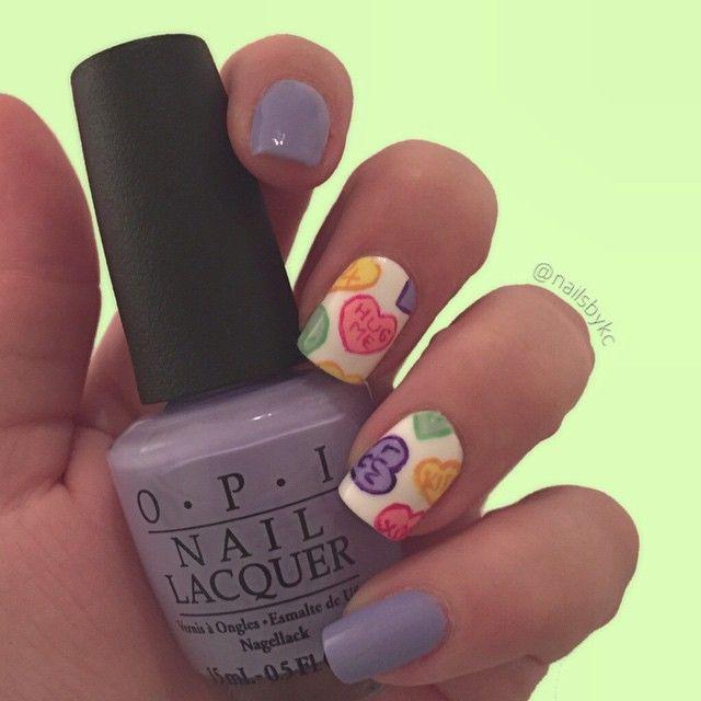 Candy Hearts   Using all OPI Nail Polishes