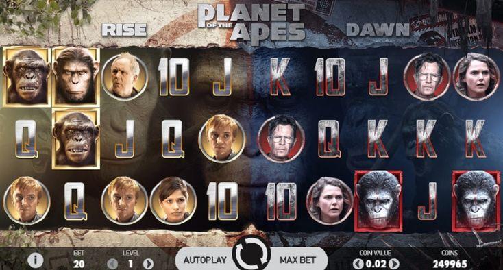 Planet of the Apes er en videoautomat med to spilleområder. Hvert av områdene har 5 hjul, 3 rader og 20 linjer (fast). Den har 2 forskjellige typer Free Spins, Bonus-symboler, Scatter-symboler, Wild-symboler, en Stacked Wild-funksjon, 2 Bonus-funksjoner og en Dual-funksjon. #PlanetoftheApes #Spilleautomater