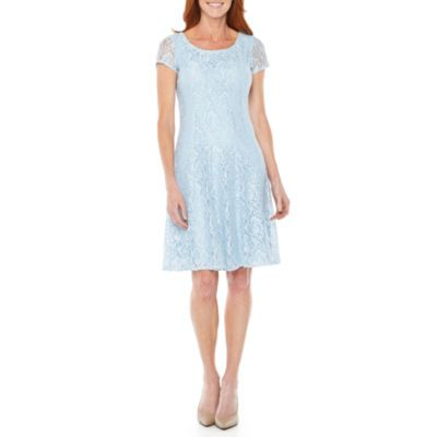 0c8860eb9d00 Buy Perceptions Short Sleeve Lace Floral Fit & Flare Dress at JCPenney.com  today and enjoy great savings.