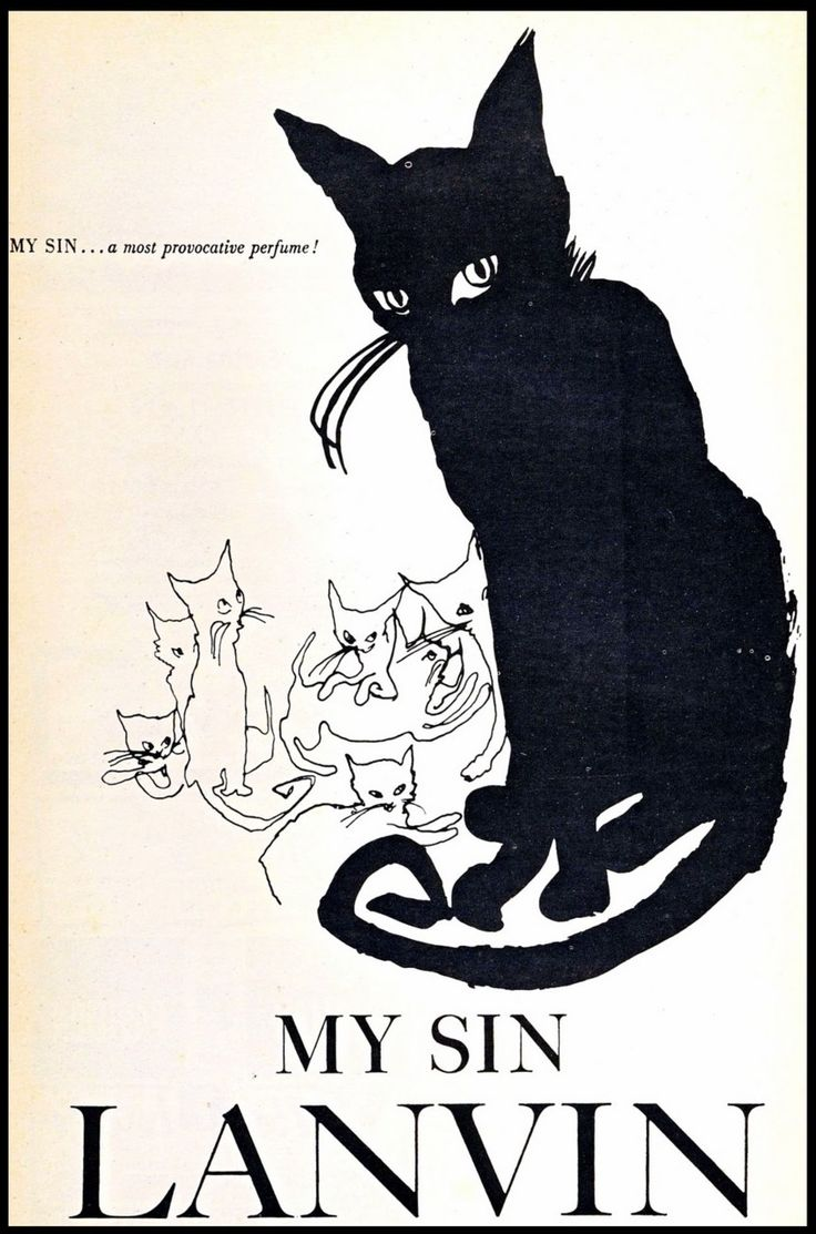 """Advertisement for Lanvin's """"My Sin"""" perfume, 1920s."""