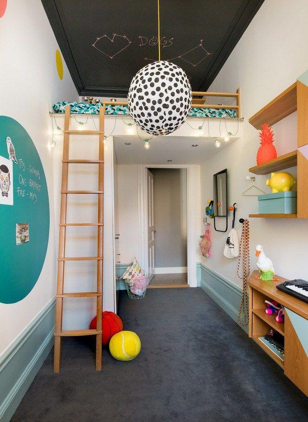 Aménager une petite chambre d'enfant. http://www.m-habitat.fr/par-pieces/chambre/amenager-une-chambre-pour-enfant-2624_A