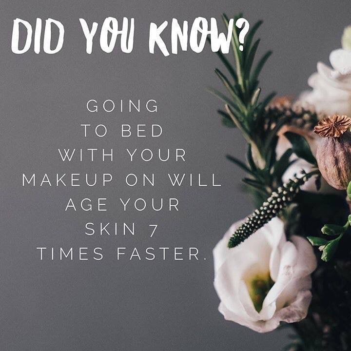 Image result for taking make up off at night