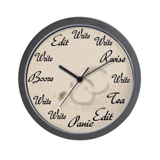 I love this Writer's Clock Wall Clock