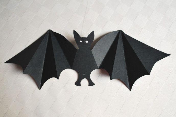 Летучая мышь из бумаги картинки