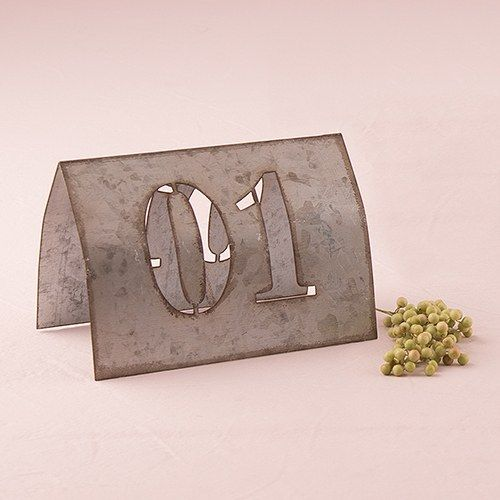 Metal Table Numbers  Industrial Table Numbers - The Knot Shop