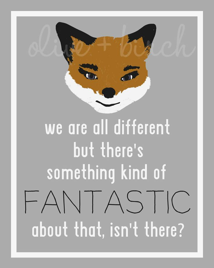 Fantastic Mr Fox Quote Printable by OliveandBirch on Etsy, $4.50