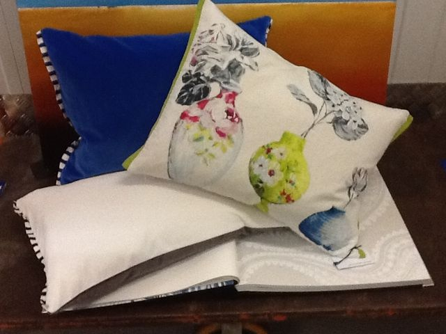 Spotted Magpie - Designers Guild cushions Varese and Celeste