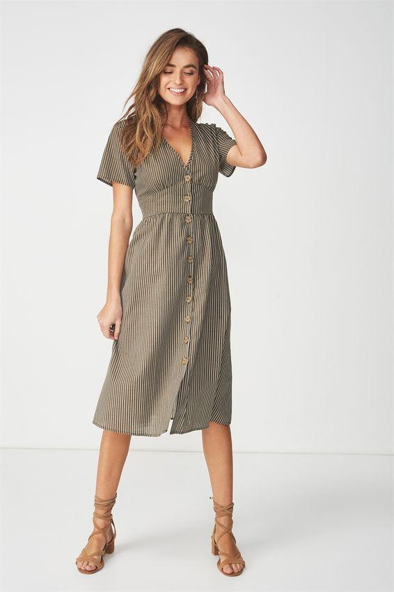 8b08e777d5 Cotton On Woven Gigi Button Through Midi Dress