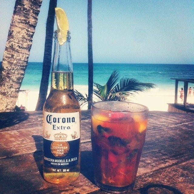 #tulum #papayaplaya #mexico #mojito #corona