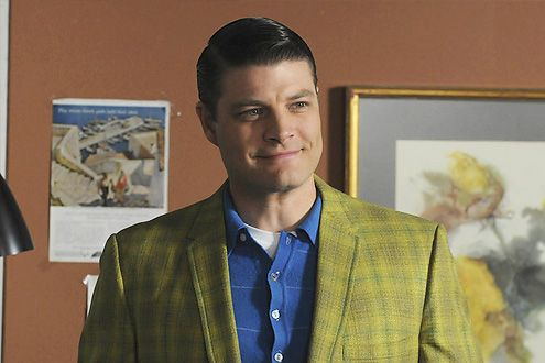 Jay R. Ferguson as Stan Rizzo on Mad Men. I want a room based on the colors in his jacket and shirt.