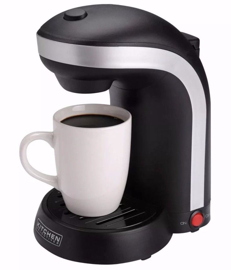 Coffee Maker 1 Cup Single Serve Drip Kitchen Selectives CM-688 Black New