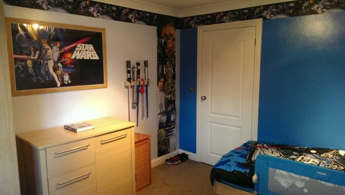 My sons Star Wars bedroom....just a few finishinv touches to go.