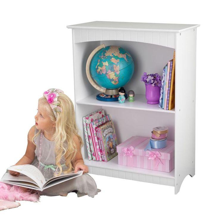 White Nantucket Kidkraft Bookcase With 2 Shelf For Reading Nook Kidkraft White Bookcase 2