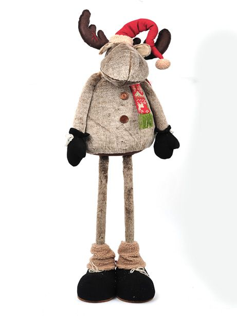 A moose decoration from Country Baskets Tundra Christmas range.