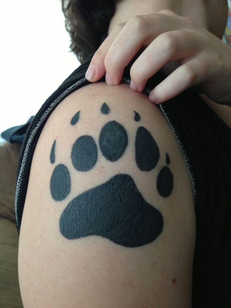 Bear Paw Print Tattoo Makwa Included Somewhere Bear Paw