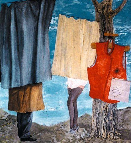 Jindřich Štyrský - Vest Of Mayakovskij (1939). #painting #Czechia #art