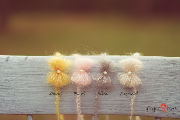 Bow newborn headband. $13.00, via Etsy.
