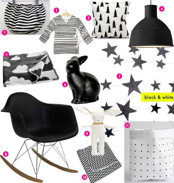 Black & White in Children's Rooms « Spearmint Baby