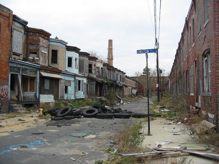 Row of houses in Camden New Jersey