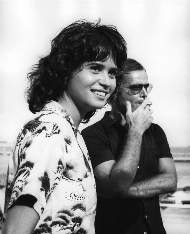 Maria Schneider and Jack Nicholson in Professione: reporter directed by Michelangelo Antonioni, 1975