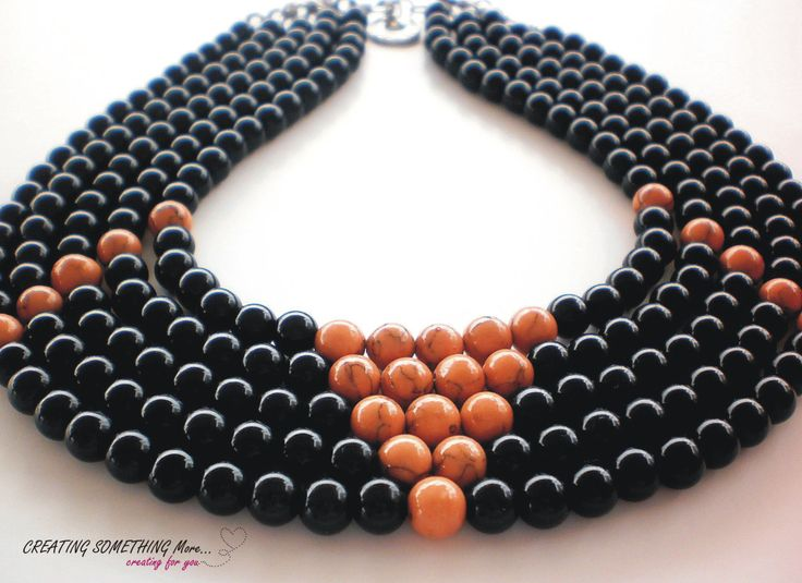 Beads necklase brown 2 <3 !!!