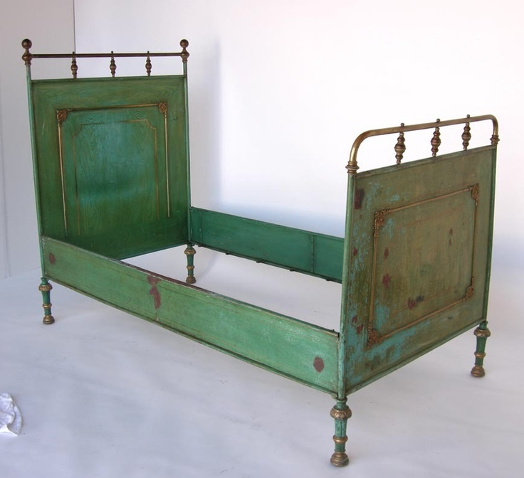 18th C French Metal Bed In The Most Incredible Shade Of
