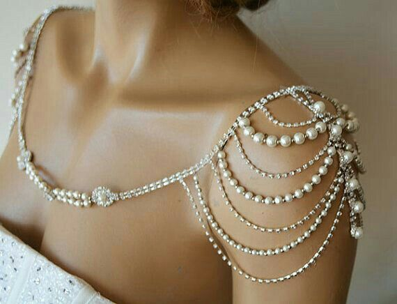 I've never done shoulder jewelry but this might be really nice with the strapless dress