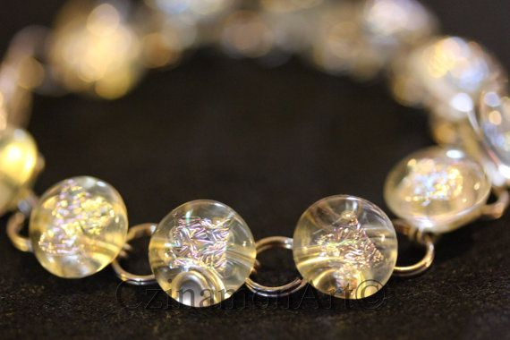 Transparent Fused Glass Bracelet by CzinamonArt on Etsy, €25.00