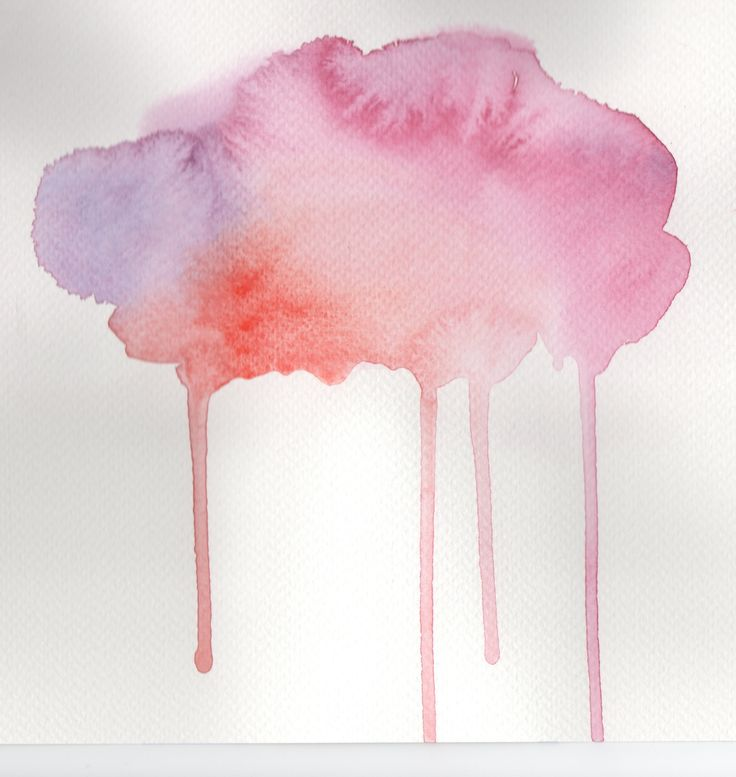 Pink cloud Watercolour