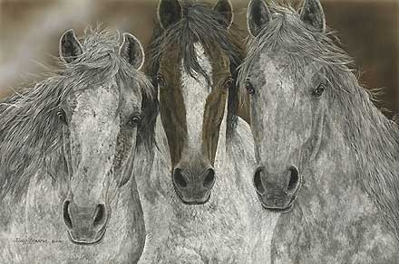 The Misfits - Judy Larson - World-Wide-Art.com - $245.00 #JudyLarson #Horses
