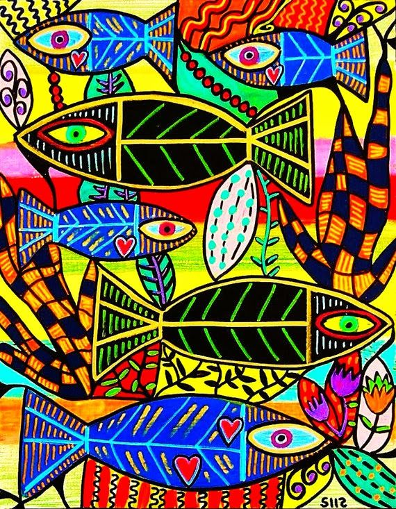 Dream Painters: Silberzweig Inspired Reef Fish