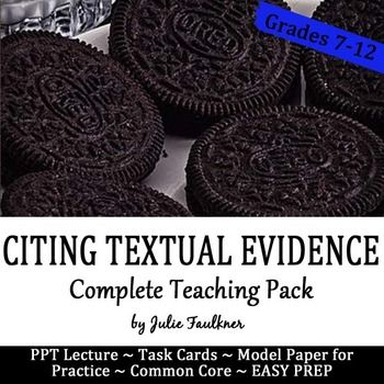 How to Cite Textual Evidence - A Fun, Interactive Teaching Pack for Citing Textual Evidence at the Secondary LevelDo you teach MLA formatting as well? Consider taking a look at my Citing Evidence POWER PACK for a savings. Click Here This teaching pack is designed to specifically teach and practice the skill of textual evidence with a catchy theme and an easy-to-follow three step process.