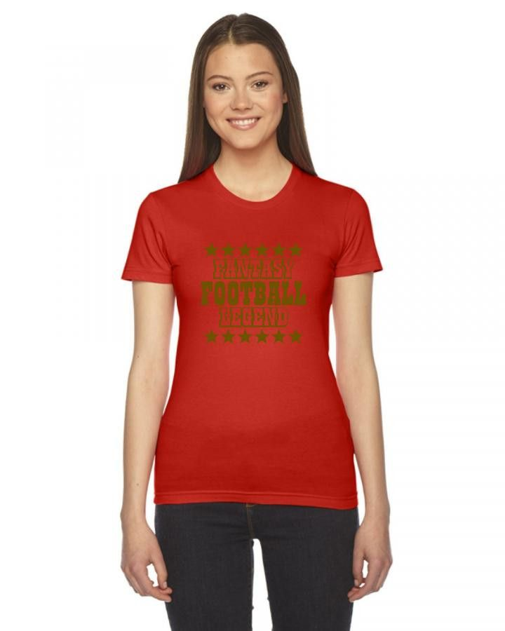 fantasy football legend Ladies Fitted T-Shirt