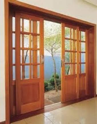 Resultado de imagem para porta de correr madeira com vidro