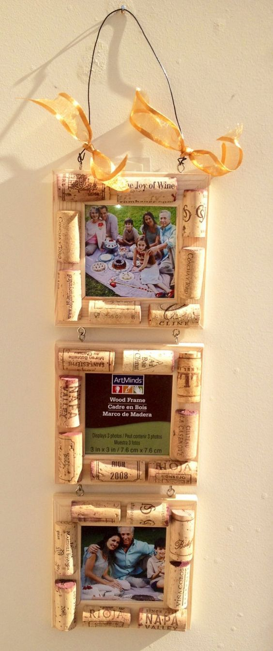 Wine Cork Picture 3 Frames SALE by MaxplanationPhotos on Etsy, $12.00: