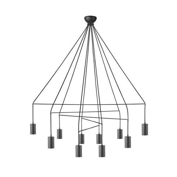 LAMPA wisząca IMBRIA 9680 Nowodvorski OPRAWA zwis kable przewody pająk spider czarny