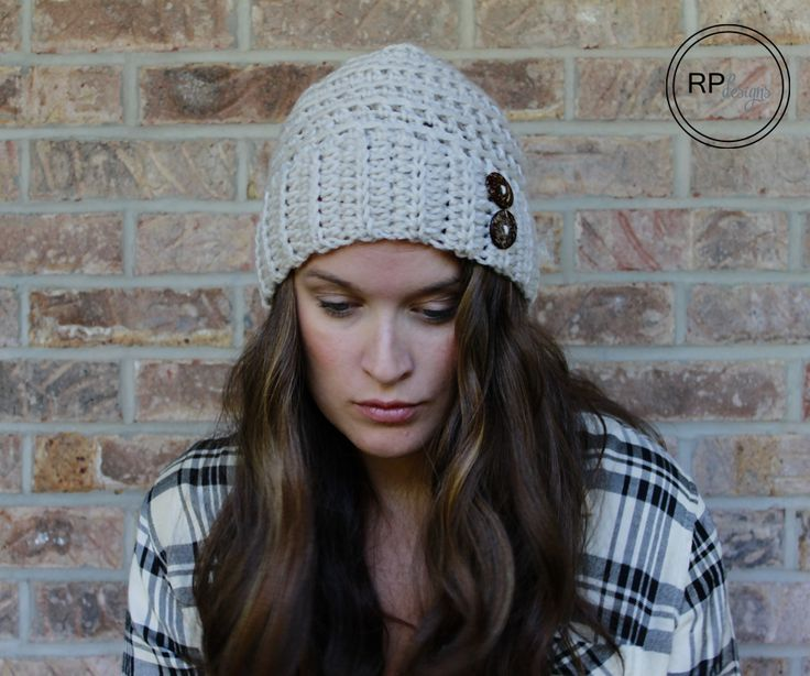 Andy Button Hat - Free Crochet Pattern from Rescued Paw Designs. Matching hand warmers and scarf pattern links.