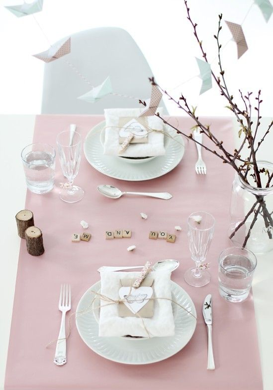 valentine's day dinner ideas, Valentine day decoration table for two www.foodideasrecipes.com